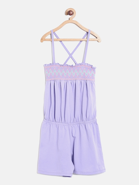 The Childrens Place Girls Lavender Romper