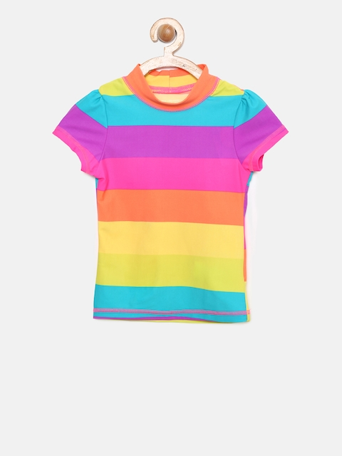 The Childrens Place Girls Multicoloured Swim Top