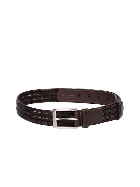 Hidesign Men Brown Woven Design Belt