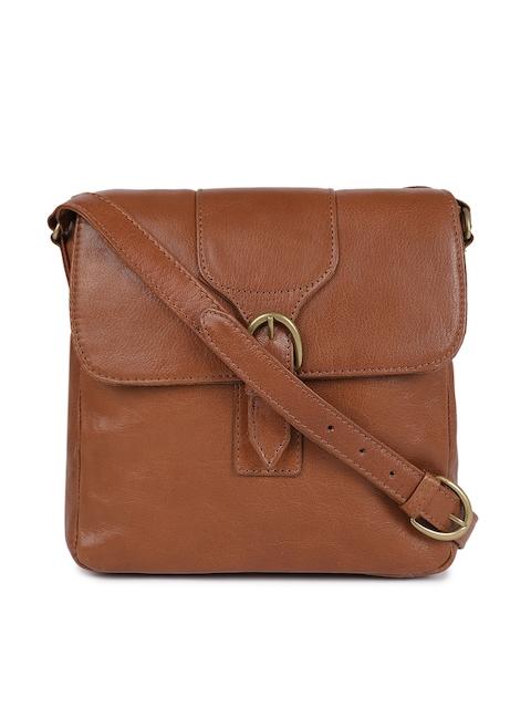 Hidesign Men Tan Leather Solid Messenger Bag