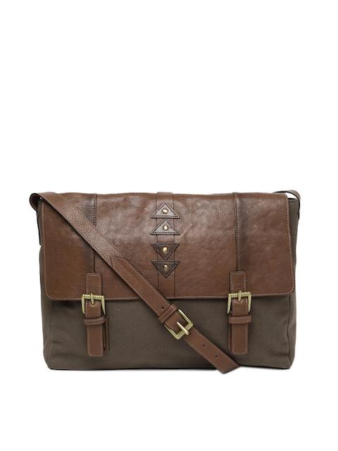 Hidesign Men Tan Brown Solid Laptop Bag