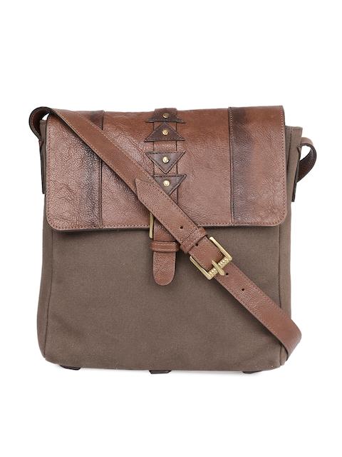 Hidesign Men Tan Brown Solid Messenger Bag