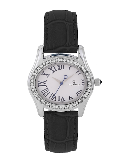 maxima Women White Dial Watch 29554LMLI