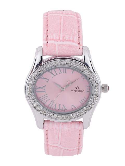 maxima Women Pink Dial Watch 29555LMLI