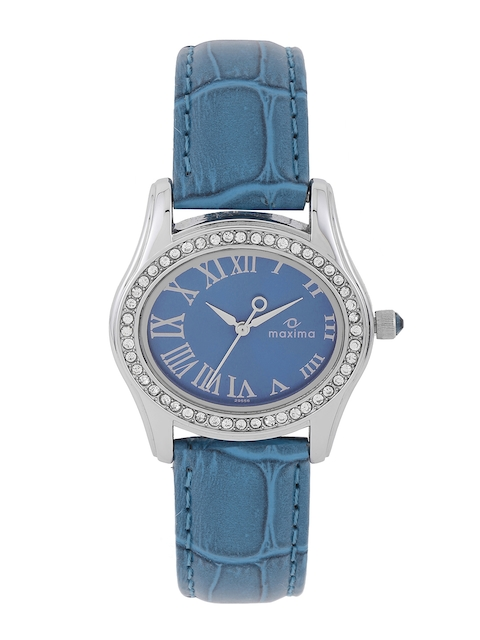 maxima Women Blue Dial Watch 29556LMLI