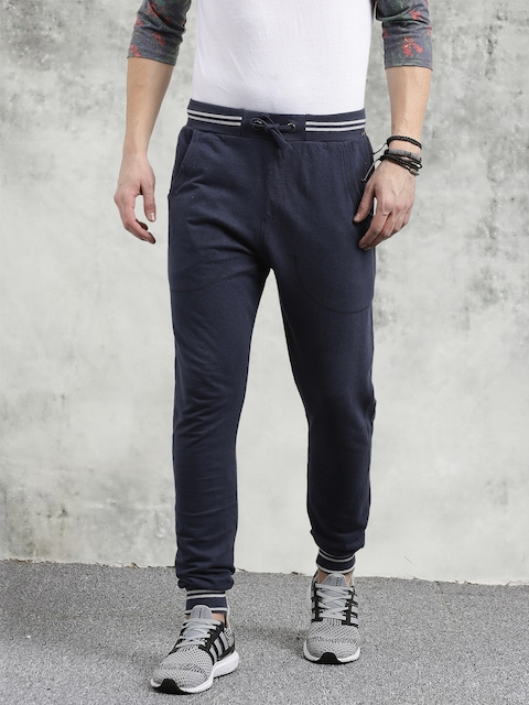 Breakbounce Navy Blue Solid Joggers