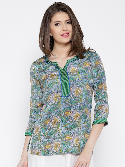 BIBA OUTLET Multicoloured Printed Kurti  available at myntra for Rs.539