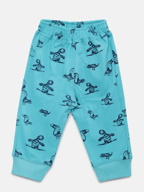 Little Kangaroos Boys Blue Printed Lounge Pants 8903208592136