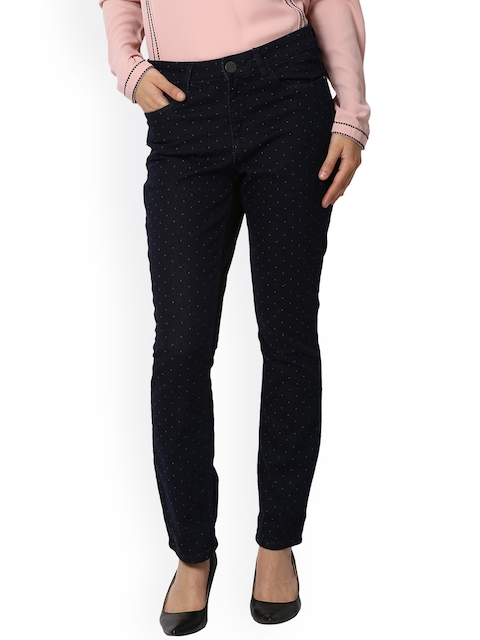 Van Heusen Woman Women Black Regular Fit Mid-Rise Clean Look Stretchable Jeans