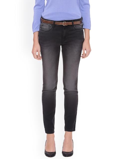 Van Heusen Woman Women Grey Slim Fit Mid-Rise Clean Look Stretchable Jeans