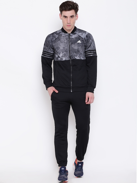 Adidas Men Black Printed MTS PES COSY Training Tracksuit
