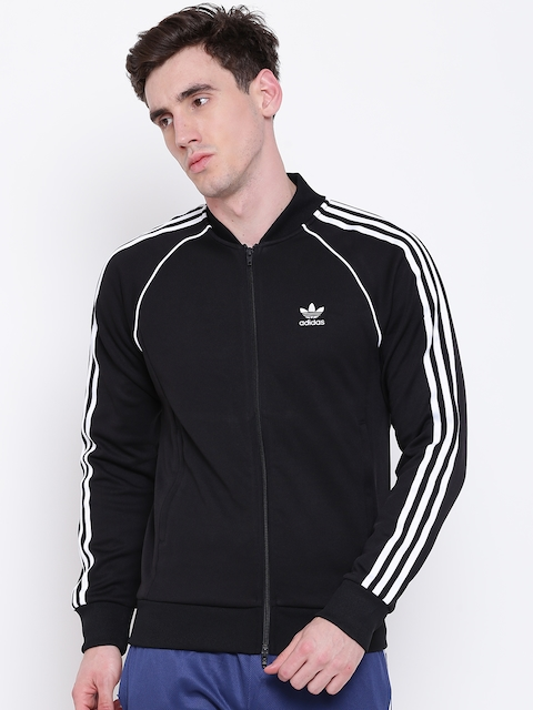 Adidas Originals Men Black SST TT Sporty Jackets