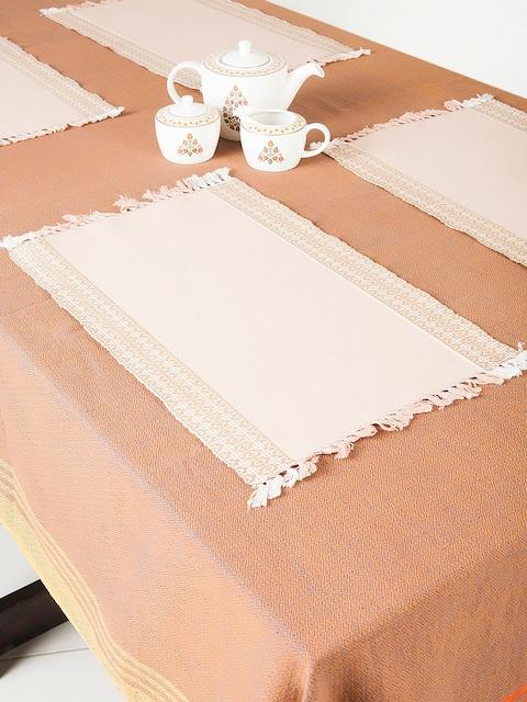 Fabindia Beige Set Of 6 Table Mats