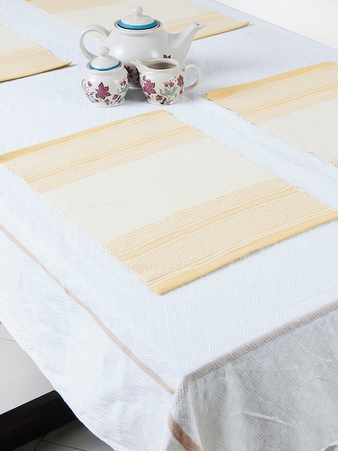 Fabindia Yellow Set Of 6 Table Mats
