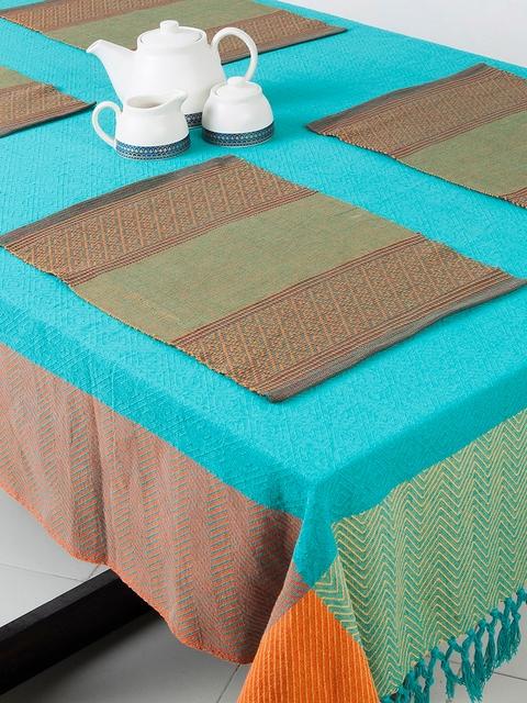 Fabindia Green Set Of 6 Table Mats