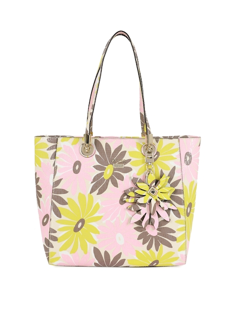 GUESS Multicoloured Printed Leather Shoulder Bag