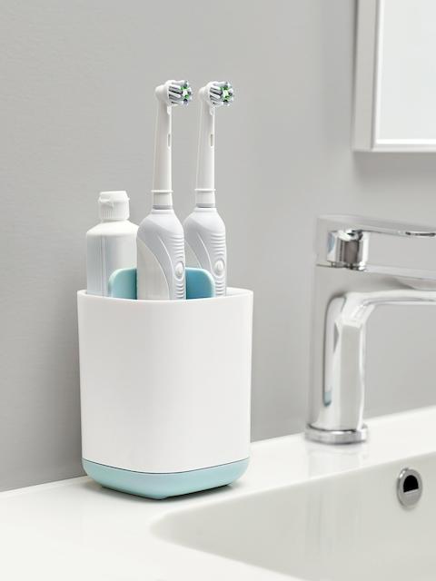 Joseph Joseph White Plastic Toothbrush Caddy