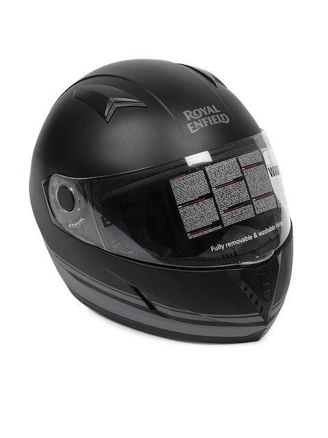 Royal Enfield Matt Black Street Pin Stripe Full Face Helmet RRGHEI000098