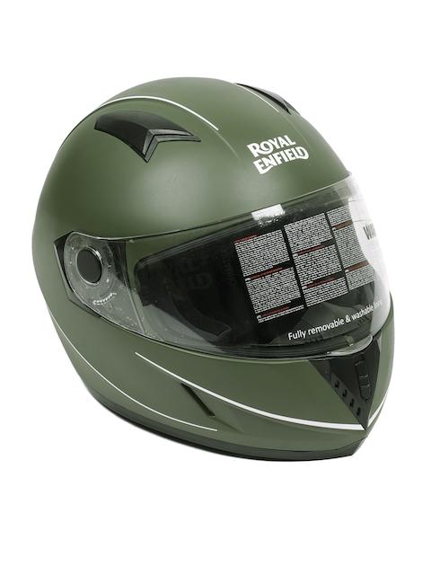 Royal Enfield Unisex Olive Green Street Mono Stripe Full Face Helmet RRGHEI000045