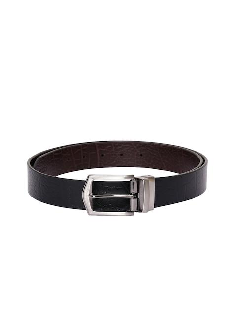 CHISEL Men Black & Brown Textured Belt