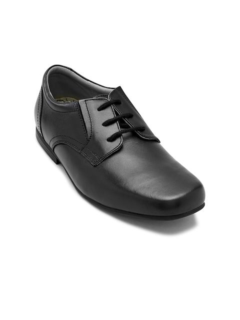 next Boys Black Leather Formal Shoes