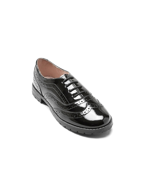 next Girls Black Brogues