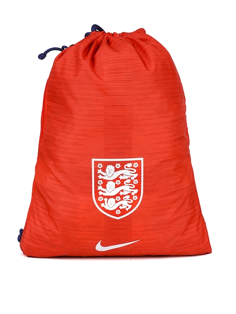 Nike Unisex Red Textured & Printed Backpack