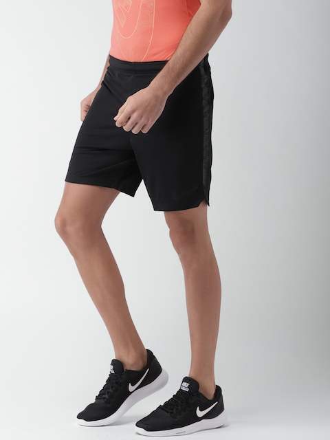 Nike Men Black Slim Fit AS M NK DRY SQD SHORT K Sports Shorts