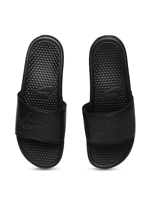 Nike Men Black Benassi JDI Printed Sliders