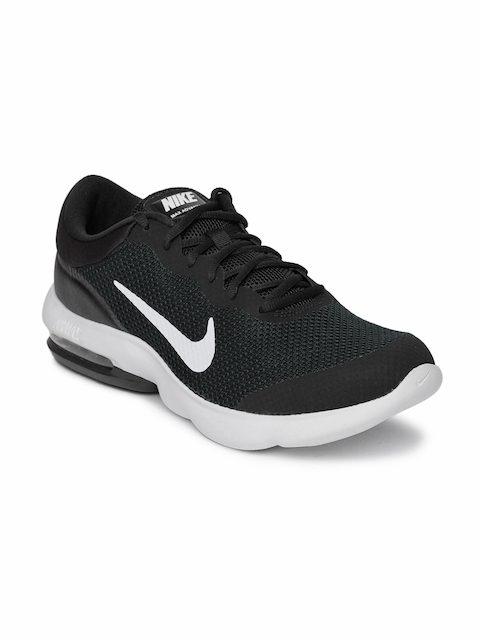 Nike Men Black Air Max Advantage Running Shoes