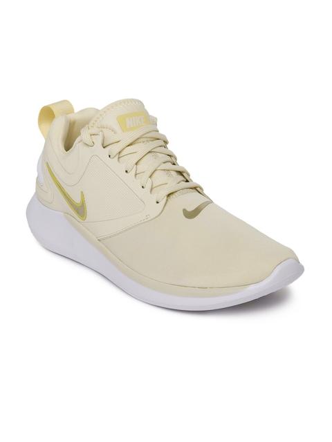 Nike Women Beige Lunarsolo Running Shoes