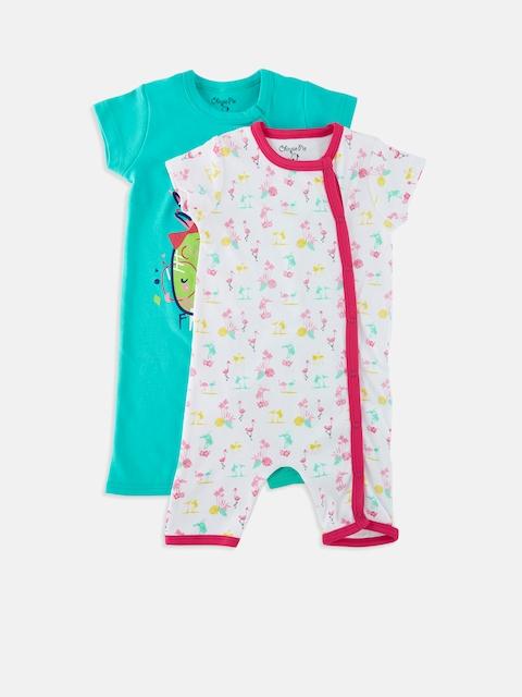 Chirpie Pie by Pantaloons Girls Pack of 2 Sleepsuits