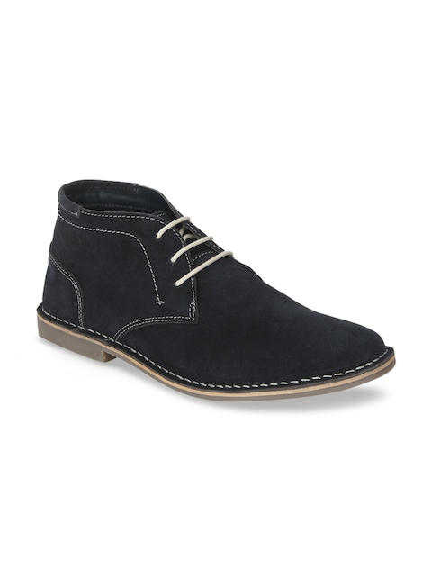 Red Tape Men Black Suede Flat Boots