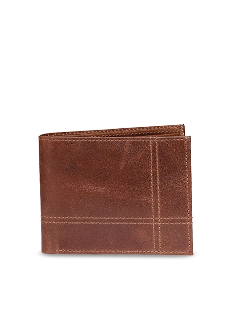 CHISEL Men Brown Leather Two Fold Wallet