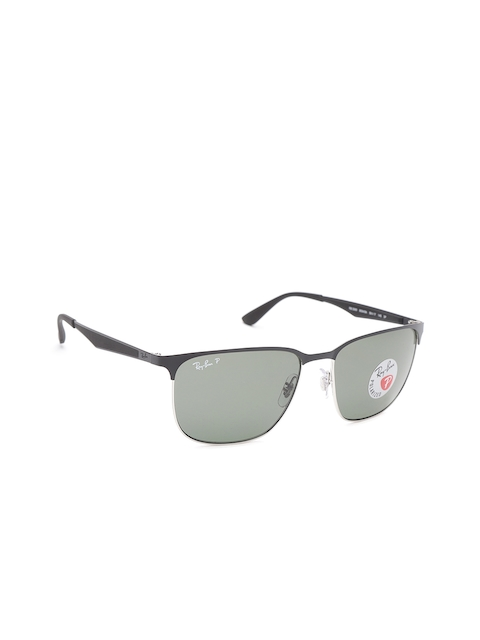 Ray-Ban Unisex Polarised Square Sunglasses 0RB356990049A59