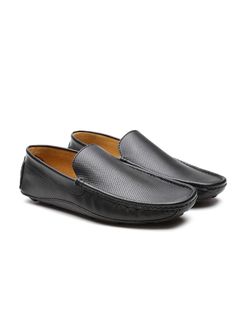 United Colors of Benetton Men Black Driving Shoes