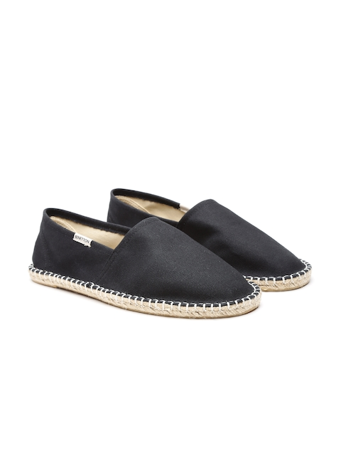 United Colors of Benetton Men Black Espadrilles