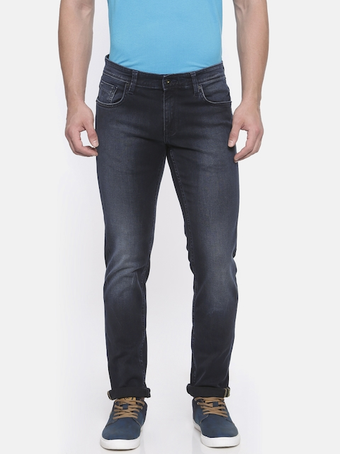 Indian Terrain Men Blue Slim Fit Mid-Rise Clean Look Stretchable Jeans