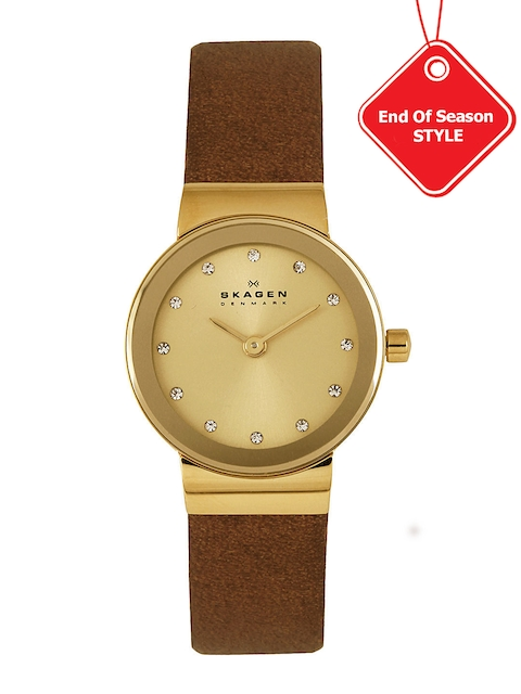 SKAGEN DENMARK Women Gold-Toned Dial Analogue Watch SKW2175I