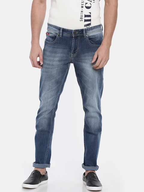 Lee Cooper Men Blue Skinny Fit Mid-Rise Clean Look Stretchable Jeans