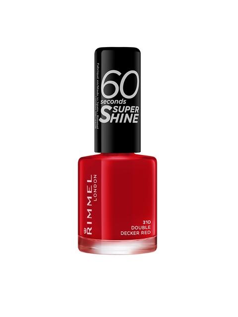 RIMMEL 60 Seconds Super Shine 310 Double Decker Red Nail Polish 8 ml