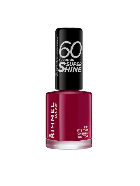 RIMMEL 60 Seconds Super Shine 321 Its The Cherry On Top Nail Polish, 8 ml