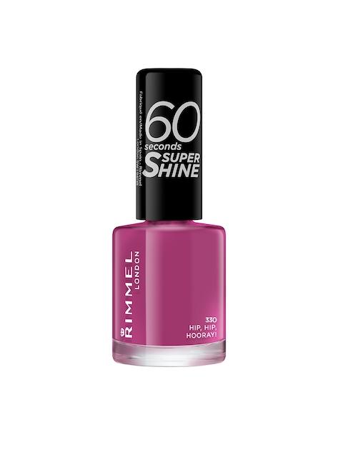 RIMMEL 60 Seconds Super Shine 330 Hip, Hip, Hooray Nail Polish 8 ml