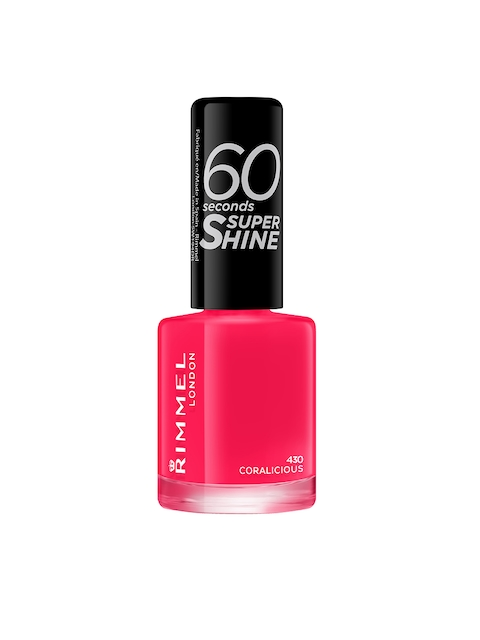 RIMMEL 430 Coralicious 60 Seconds Super Shine Nail Polish 8 ml