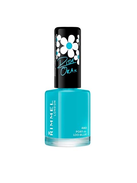 RIMMEL Rita Ora 880 Port-A-Loo-Blue Nail Polish, 8 ml