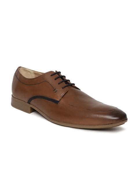 Arrow Men Tan Brown Aubrun Leather Derbys