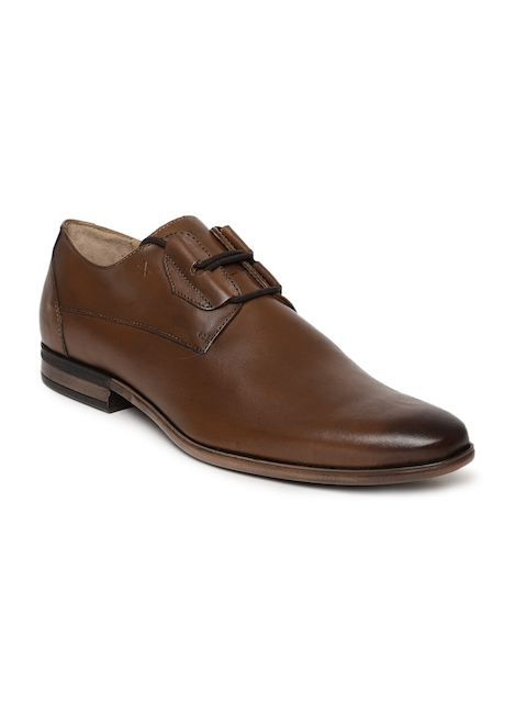 Arrow Men Tan Brown Bruze Leather Derbys