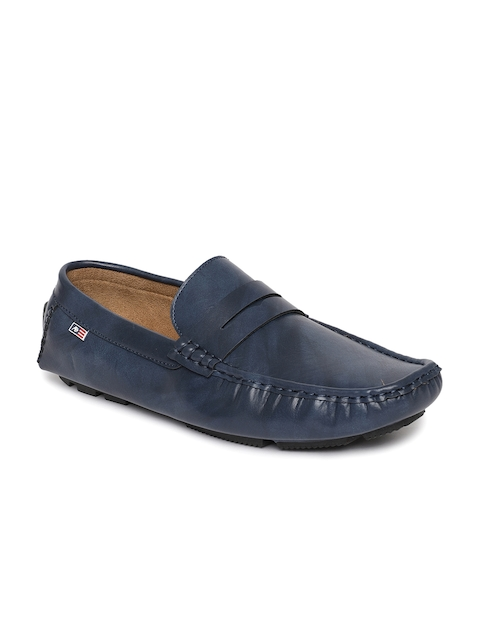 Arrow Men Blue Loafers