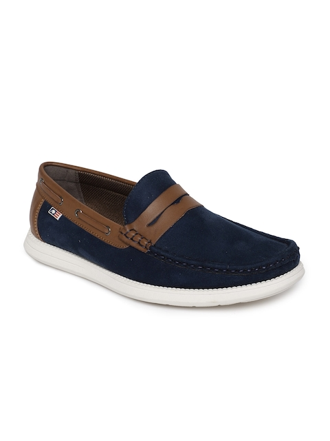 Arrow Men Navy Blue Loafers