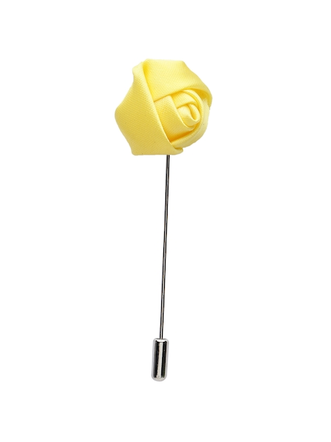 Alvaro Castagnino Men Yellow Silver Lapel Pin